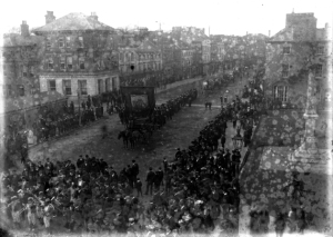 St. Patrick's Day Parade in Ireland, 1905. Photograph from the National Library of Ireland's Tempest Collection